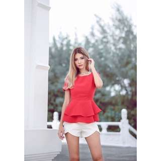 MGP Label Peplum Top