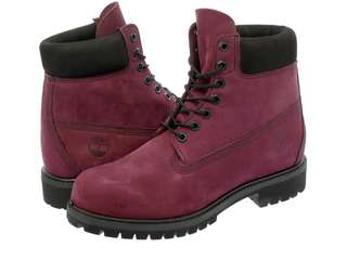 Timberland Burgundy Premium 6 inch Port Royale Waterproof ladies Boots (Limited Release)