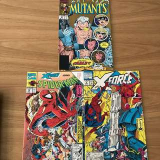 X force comic with spiderman