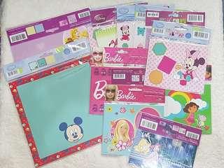 Assorted Scrapbook Materials (Barbie/Mickey & Minnie/Disney Princess/ Dora)