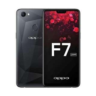 Terbaru Oppo F7 6/128GB Black Kredit Mudah Proses Cepat