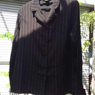 Stripes Black Blouse ( baju kerja )
