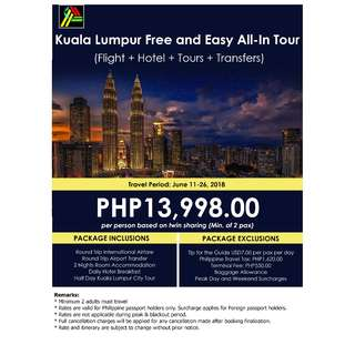 Kuala Lumpur Free and Easy All-In Tour
