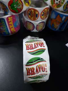 [INSTOCK] BN Roll of BRAVO! Reward/Merit Stickers (Oriental Trading)