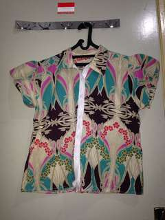 Kemeja Batik Semi Kimono