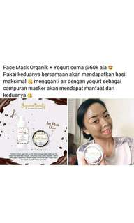 Face mask organik + yogurt