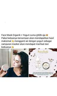Face mask organik +yogurt