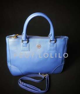 Authentic Tory Burch Double Zip Two-way Bag
