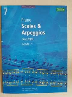 Grade 7 Piano Scales and arpeggios