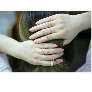 Gold 12pcs/set knuckle rings