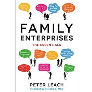 """Book """"Family Enterprises : The Essentials"""" (by Peter Leach / Victoria B. Mars). RRP S$35.31"""