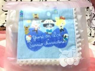 Yuri on Ice Handkerchief / Hand Towel Sanrio Ver.