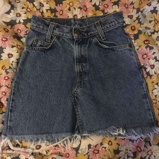LEVI'S vintage denim skirt - 6 XS