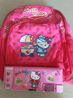 Bag & Pencil Case Original Hello Kitty