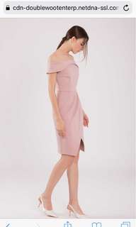 Doublewoots off should dress (pale pink)