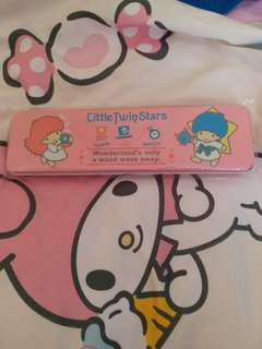 絕版 sanrio little twins star 鐵筆盒