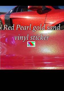 Red pearl gold vinyl sticker wrap