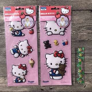 (Free Postage) 2 Sets Giant Hello Kitty Stickers