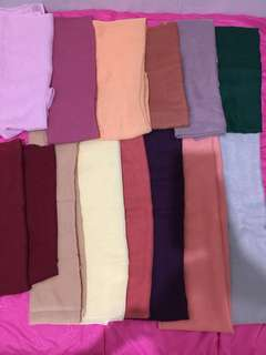 14pcs hijab paris (harga take all)
