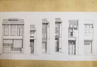 *NEW HAND DRAWING ARTWORK*shop houses in Malaysia