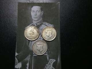 Malaya Silver 5 Cent King George VI Coin