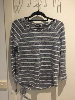 Dotti stripe blue navy white top sweater knitwear
