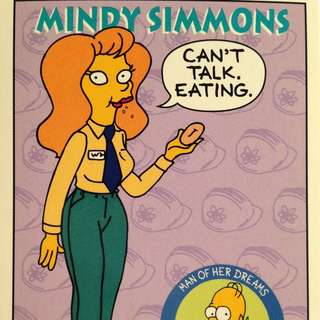 1994 Skybox Simpsons Series 2 - Base Card #S33 - Mindy Simmons