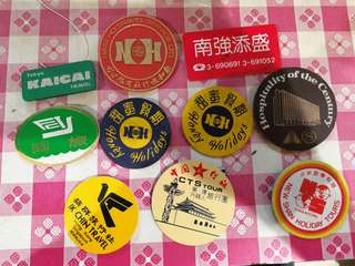 Old Singapore travel agency pin badge