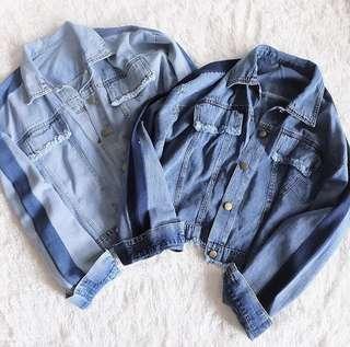 Oversized Jacket Denim Lis