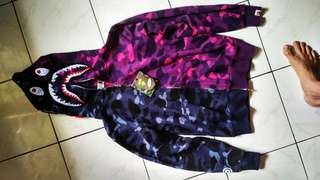 Bape hoodie dual camo fullzip 1:1 Size M