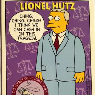 1994 Skybox Simpsons Series 2 - Base Card #S31 - Lionel Hutz