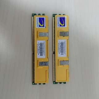 DDR ram. 2x 256MB. Twinmos. DDR400. PC3200. CL2.5