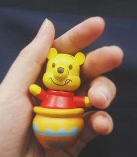 全新7-11Winnie The Pooh小木偶