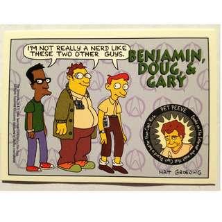 1994 Skybox Simpsons Series 2 - Base Card #S30 - Benjamin, Doug & Gary