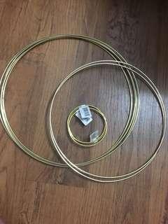 Metal gold hoops