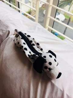 Dog pencil case (fuzzy)