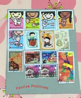 Used Singapore stamps (4 set)