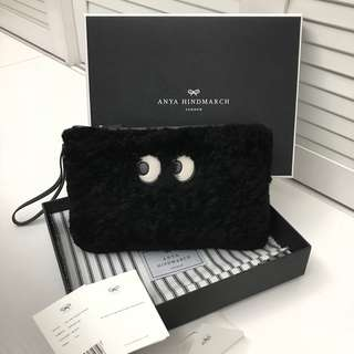 ANYA HINDMARCH eyes shearling pouch
