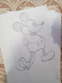 Disney Sketches - Mickey Mouse (Hand Sketches)