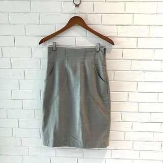 Mango Grey Stripes skirt