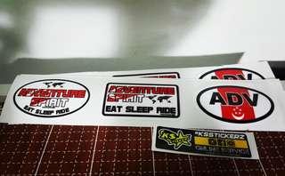 Eat Sleep Ride Adventure Spirit ADV stickers