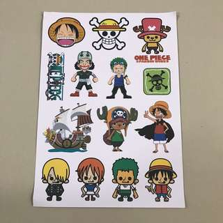 A42 One Piece - Luggage/ notebook/ guitar / laptop stickers