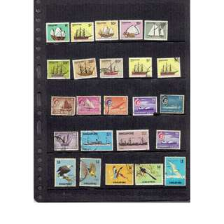 Singapore Used Stamps as in picture  (excluding mounting)