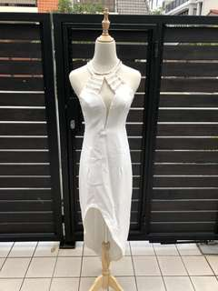 White greek dress