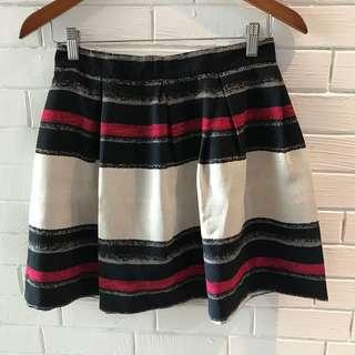 Zara red black skirt