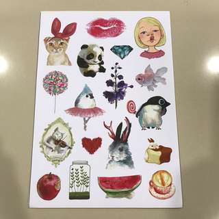 A45 Cute Animal- Luggage/ notebook/ guitar / laptop stickers