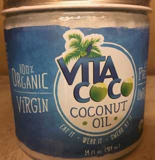 Organic coconut oil 100% virgin