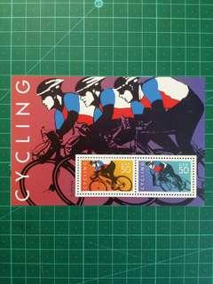 [均一價$10]1996 美國 單車運動小全張 新票