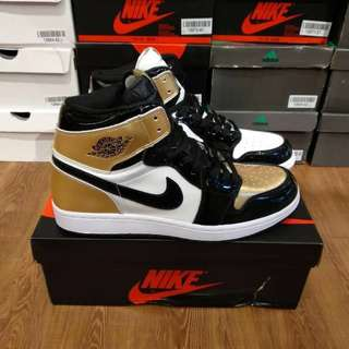 (Best Seller) Air Jordan 1 Retro High OG NRG Gold Toe