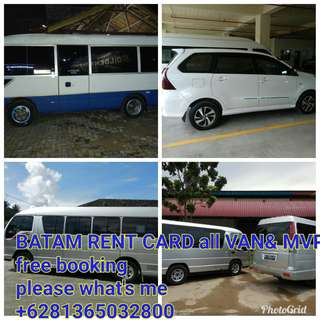 Batam holiday in and transport all car+ticket ferry